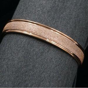 Spring Fashion | Rose Gold Infinity Cuff Bracelet